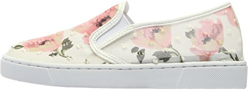 Paperplanes 1374 Women Flower Pattern Tall-Up Casual Slip-Ons Shoes Ivory pB8vWcs