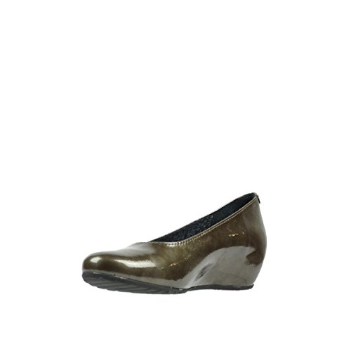 Rouleau Taupe Mocassins 6227 Patent 60150 Leather Wolky dq68wU6