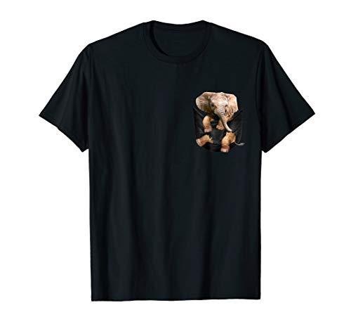 Cute Elephant Pocket T-Shirt Elephant lover gift