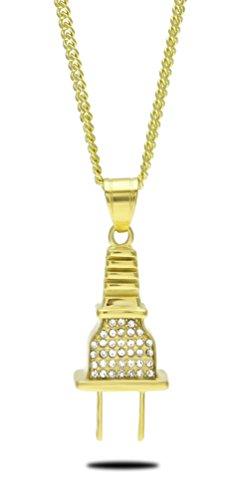 censtusllery-men-hip-hop-punk-alloy-plug-pendant-crystal-chain-necklacegold