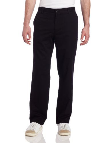 Dockers Men's Easy Khaki D2 Straight-Fit Flat-Front Pant, 36W x 30L, Black