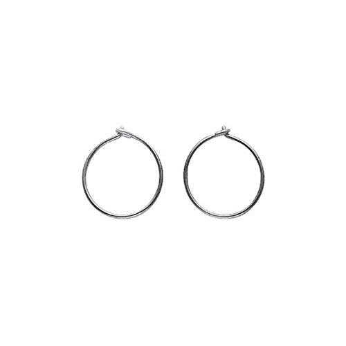 Blomdahl Titanium Hoop Earrings, Skin friendly, Hypoallergenic For Sensitive Ears ()
