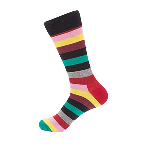 Wool Crew Socks Women ,PASHY Womens Winter Striped Rainbow Print Soft Warm Thick Cold Knit Wool Crew Socks ()