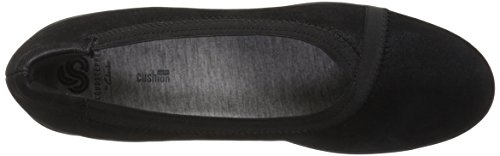 Clarks Womens Caddell Dash Wedge Pump, Black Synthetic, 6 W US