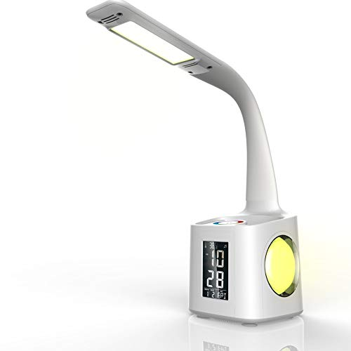 IhDFR Smart Led Desk Lamp with Calendar USB Charging Children Learn to Read Eye Pencil Lamp Table Lamp Business Office ()