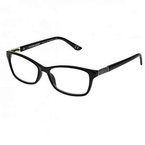 Foster Grant Jules Black Men Reading Glasses/W case 1.50