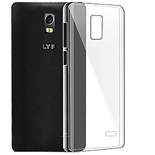 Go Hooked Transparent Silicone Flexible Soft TPU Slim Back Cover For LYF Water 10