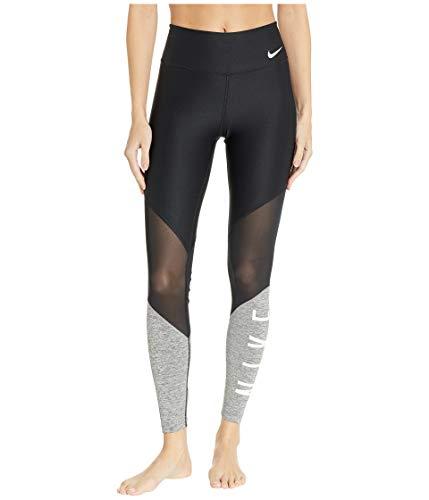 Nike Pro Womens Mid Rise Training Power Tights (Medium, Black/Carbon Heather/White) ()