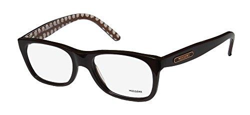 Missoni 11202 Mens/Womens Oversized Full-rim Spring Hinges Eyeglasses/Glasses (52-18-140, Dark - Frames Glasses Missoni