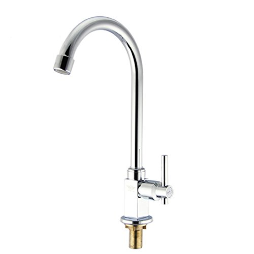 Bijjaladeva Bathroom Sink Vessel Faucet Basin Mixer Tap Kitchen faucet single cold kitchen faucet basin sink faucet single hole to redate a single cold tap single basin a basin mix