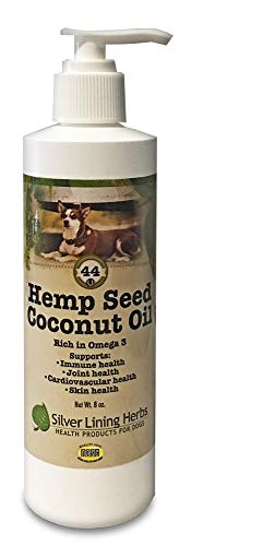 Silver Lining Herbs | Hemp Seed Oil-Coconut Oil for Dogs | Source of Omega 3 Fatty Acids | Supports Dog Health of the Immune System, Joints and Cardiovascular System | 8 Ounces | Made in the USA