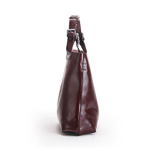 épaule fashion E Girl en femme à portés portés cuir LF 811 Sac main Café Sac main Sac n7prYq7Cw
