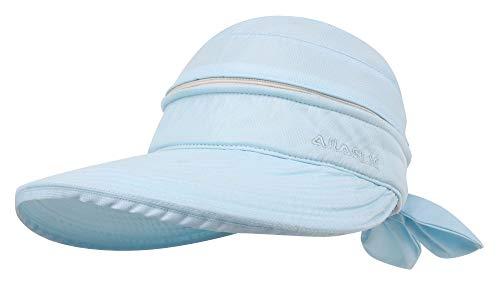 Simplicity Women's UPF 50+ UV Sun Protective Convertible Beach Hat Visor Blue