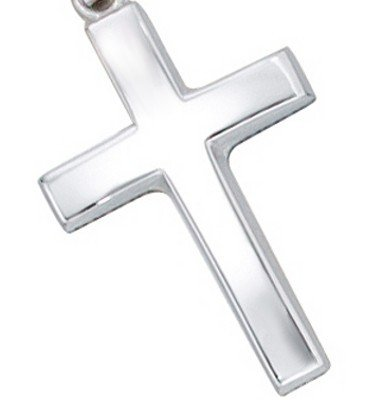 Kreuz Anh/änger wei/ßgold 585 CHANDRA Christuskreuz
