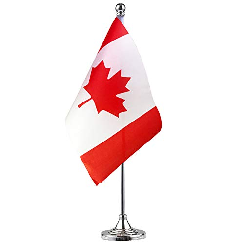 GentleGirl Canada Flag Canadian Flag Table Flag,Desk Flag,Office Flag,International World Country Flags Banners,Festival Events Celebration,Office Decoration,Desk,Home Decoration -