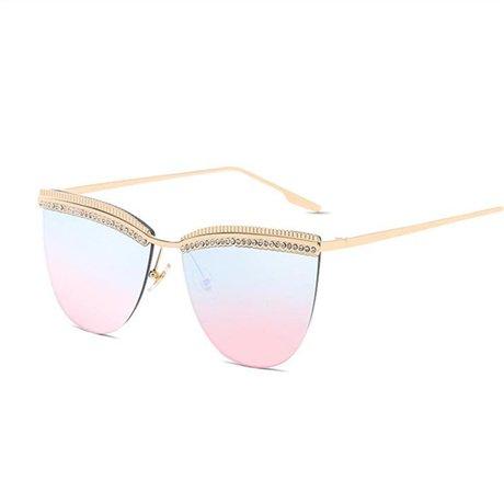 Gafas para Gafas mujer Gafas de Multi sol sol corte de GGSSYY moda Marco Amarillo de de de mujer de vintage Puente diseñador doble HtpZxnwqx