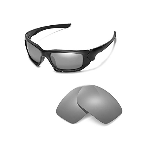 Walleva Replacement Lenses for Oakley Scalpel Sunglasses - Multiple Options Available (Titanium Mirror Coated - ()
