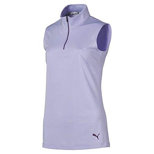 Puma Golf Women's 2019 Sleeveless Mock, Sweet Lavender, Medium