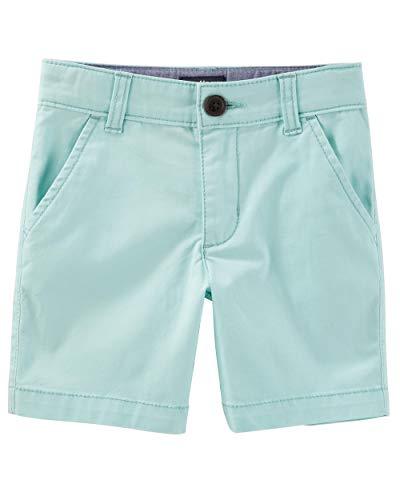 - Osh Kosh Boys' Toddler Stretch Flat Front Short, Turquoise, 4T