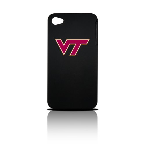 Tribeca Gear FVA6692 Hard Shell Case for iPhone 4, Virginia Tech - 1 Pack - Retail Packaging - Black