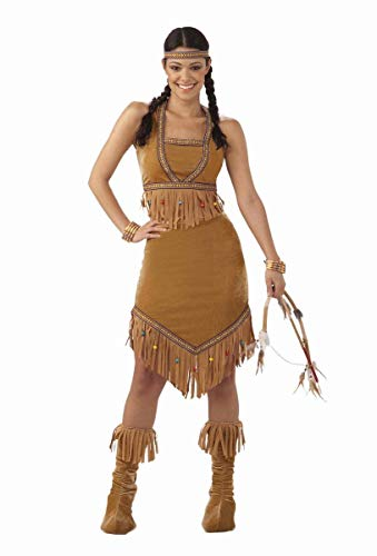 Forum Novelties Women's Native American Princess Costume, Brown, One Size]()