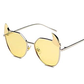 Ljmhyk Nuevo estilo de gafas de sol estilo espejo plano ...