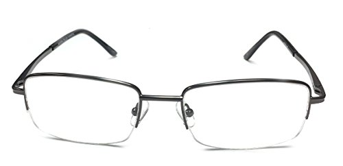 Semi Rimless Reading Glasses for Men and Women_ Trendy Metal Reading Glasses with Spring Hinge_ High and low Powers Available (+7.00, - Glasses American Reading Made