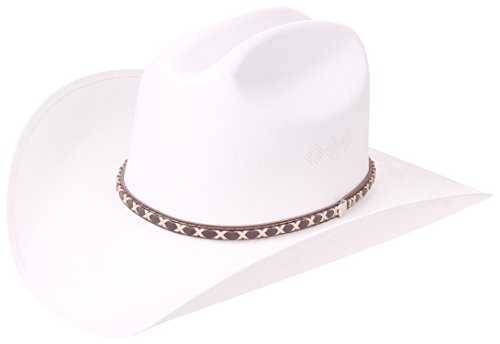 (Enimay Faux Felt Western Style Cowboy Cowgirl Hat Classic White Large | X-Large)