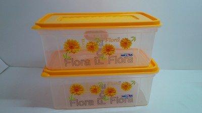 Nayasa Plastic Printed Bread Box, 2000 ml, Yellow