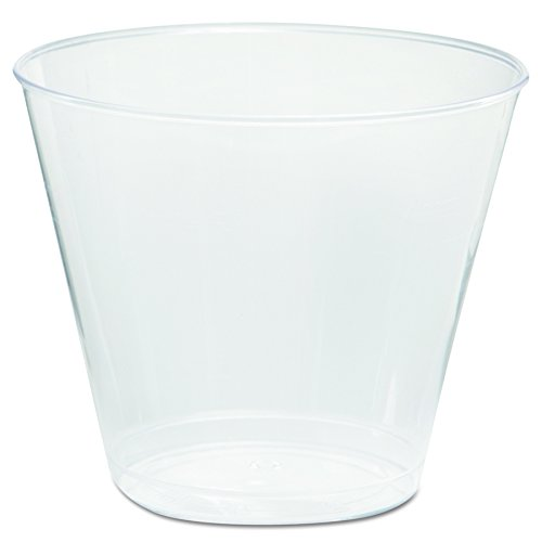 (WNA T5S Comet Plastic Tumbler, 5 oz, Clear, Squat (20 Packs of 50 Cups) )