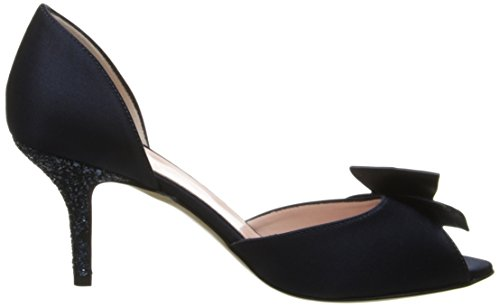 kate spade new york Women's Sala D'Orsay Pump New Navy/Satin/Navy Glitter Heel outlet best cheap sale wholesale price discount outlet store Z3rnB