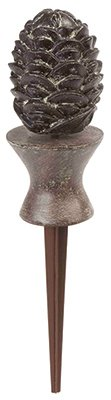 Liberty Garden Products 615 Decorative Pine Cone Garden Hose Guide - Bronze (Hose Spike Guide)
