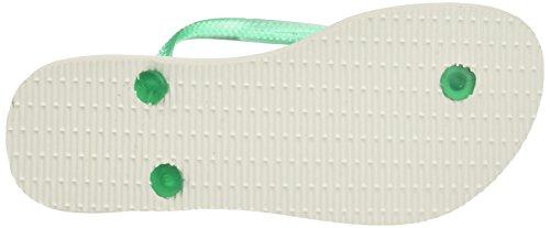 Havaianas Slim Paisage, Chanclas Para Mujer Blanco (White/mint Green)