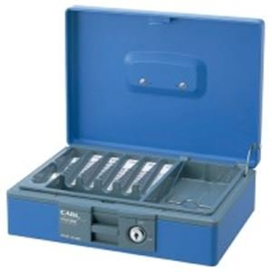 ( お徳用 5セット ) カール事務器 キャッシュボックス CB-8400 ブルー B01MF9A24V