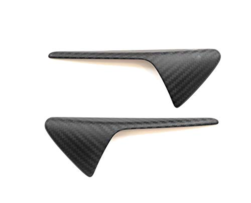 Custom Fiber - AY Customs Tesla Model 3 S X Autopilot 2.0 Carbon Fiber Side Markers Turn Signal Covers Overlay Direct Perfect Fitment Pair of Overlays Easy Install Lightweight 2x2 Twill Weave (Matte)