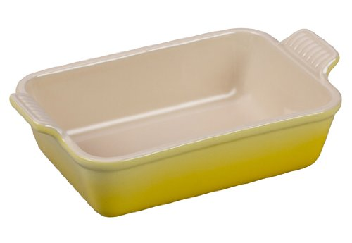 Le Creuset Heritage Stoneware 7-by-5-Inch Rectangular Dish, Soleil