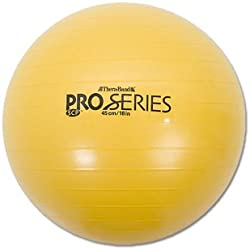 Thera-band 23115 Anti-burst Exercise Ball for Body Height, Yellow, 45cm, 4 Inch 7 Inch - 5 Inch