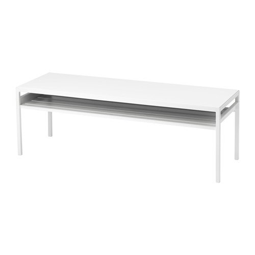 Ikea Coffee table w reversible table top, white/gray Size 47