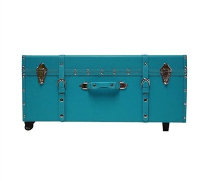 The Designer Wheeled Trunk - Aqua - Large by DormCo