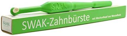 SWAK 3.4 - Miswak - Lindgrün, Handzahnbürste, Naturzahnbürste, Biozahnbürste