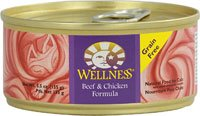 Wellness Canned Cat Food Beef and Chicken Formula -- 5.5 oz