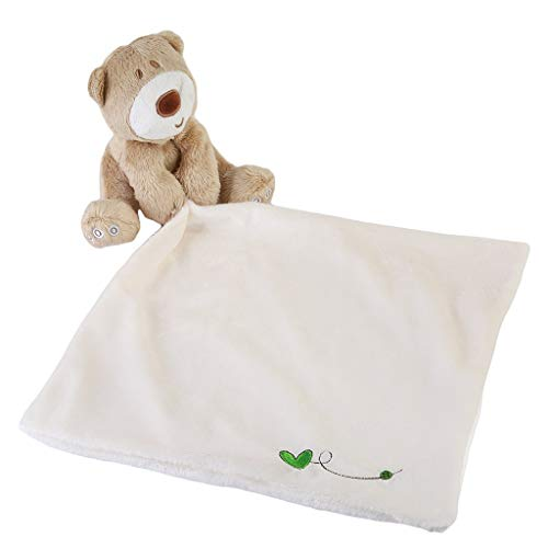 Xeminor Premium Baby Comforter Toys Cotton Towel Soft Hand Towel Natural Bear and ()