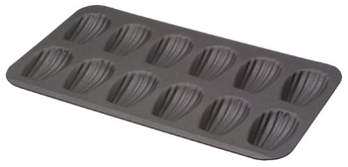 Paderno World Cuisine 12 Imprint 15.5 by 7.875 Non-Stick Madeleine Sheet