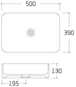 Farbe w/ählbar Mit Blende Anthrazit matt Farbe:Anthrazit matt Aufsatzwaschbecken aus Keramik KW6127-50 x 39 x 13 cm