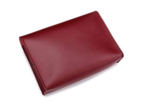 Yunqir Multi-functional PU Leather Tablet Accessories Bag Headset Charging Cable Storage Bag for Macbook/Tablet/Notebook/Phone
