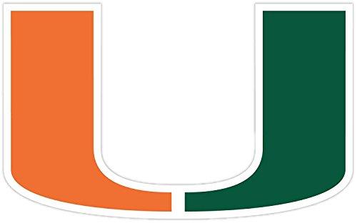 "Hurricanes University of Miami Sticker   7 Sizes CornholeTruck Wall   University of Miami Vinyl Sticker (4"" x 6"" inches.)"