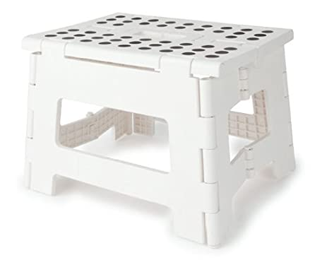 Kikkerland Rhino Easy Fold Step Stool Short White  sc 1 st  Amazon.com & Amazon.com: Kikkerland Rhino Easy Fold Step Stool Short White ... islam-shia.org
