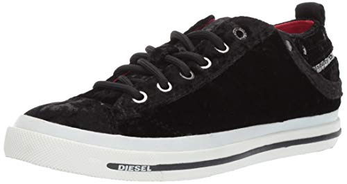 (Diesel Women's Magnete Exposure IV Low W-Sneakers, Black, 8 M US)