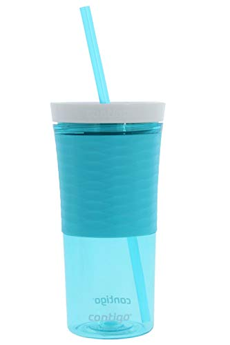 Contigo Shake and Go Double Wall Tumbler, 16 ounces - Designed to Go with You Anywhere - Autoclose Technology Prevents Shaking Spills - Made of Shatter-Resistant Plastic - No BPA - Ocean
