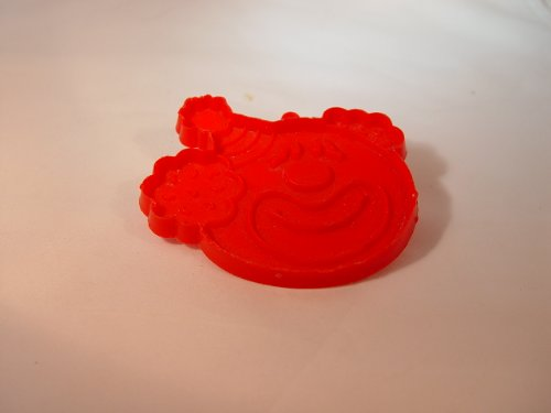 Vintage Red Plastic Hallmark Circus Clown Cookie Cutter 3 inch Tall